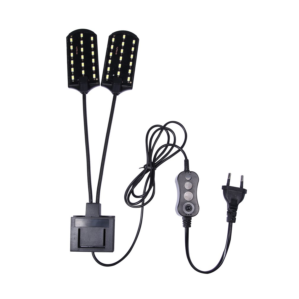 X7 EU Plug Dual Head Super Bright LED Aquatic Plant Lamp Aquarium Light Plants Grow Light Waterproof Clip-on Fish Tank Lamp