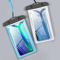 Newest 6.5inch Universal Waterproof Mobile Phone Pouch Swimming Bag Screen Touch Smartphone Carry Cover For Iphone For Huawei