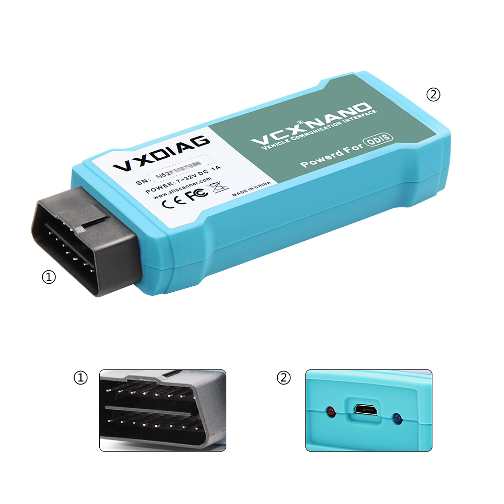 VXDIAG NANO Für VW Diagnose Werkzeug ODIS V5.1.3/V5.1.6 Ersetzen 5054A/6154 OKI Auto Scanner Wifi USB Verbindung optional