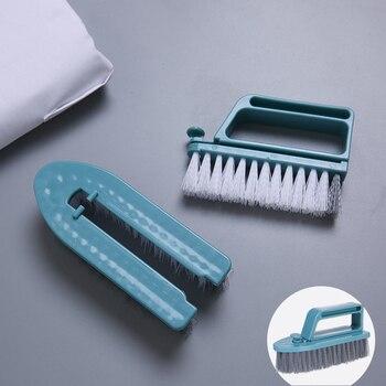 Desmontable de doble uso cepillo de limpieza Zapatos Ropa cepillo de lavandería ventana ranura pared cepillo de baño cocina Herramientas de limpieza