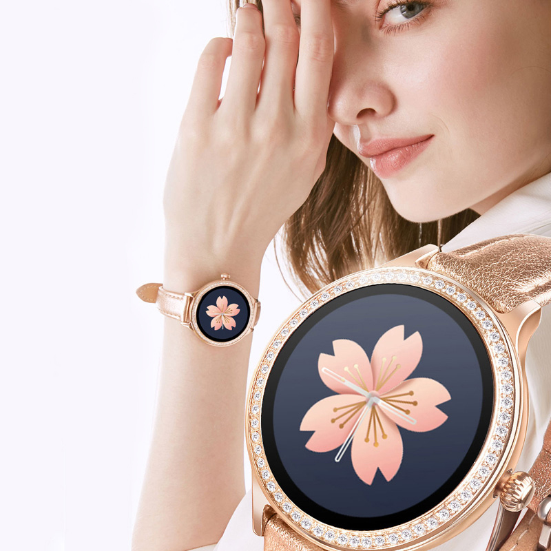 ESEED <font><b>M8</b></font> <font><b>smart</b></font> <font><b>watch</b></font> women IP68 Waterproof leather <font><b>smart</b></font> bracelet android fitness tracker Heart Rate Monitor lady smartwatch image