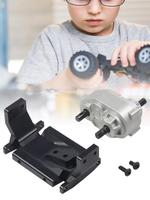 For SCX10 / D90 1/10 RC Tracked Car RC Metal Transfer Case Metal Gear Box Transfer Case With Stand Power Wheels Gearbox