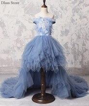Платье ТРАПЕЦИЕВИДНОЕ для девочки серое свадебное платье с цветочным
