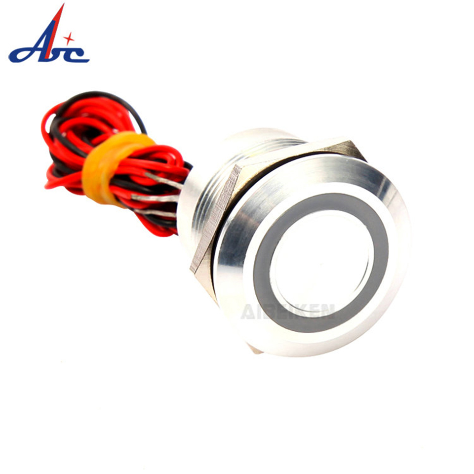 2A <font><b>19mm</b></font> <font><b>Led</b></font> Piezo <font><b>Switch</b></font> Chamfer Round Head Piezo <font><b>Switch</b></font> Waterproof <font><b>Switch</b></font> IP68 image
