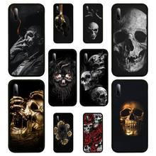 Skull Blck Phone Case For SamsungA 51 6 71 8 9 10 20 40 50 70 20s 30 10 plus 2018 Cover Fundas Coque