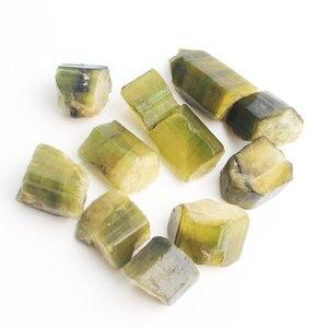 Natural Rare Green Tourmaline Quartz Crystal Raw Gemstone Mineral Specimen Irregular Rough Reiki Healing Stones Collection Decor