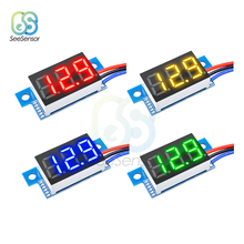 0.36 inch DC 0-100V 3-Wire Mini Gauge Voltage Meter Voltmeter LED Display Digital Panel Tester Detector Monitor Tools