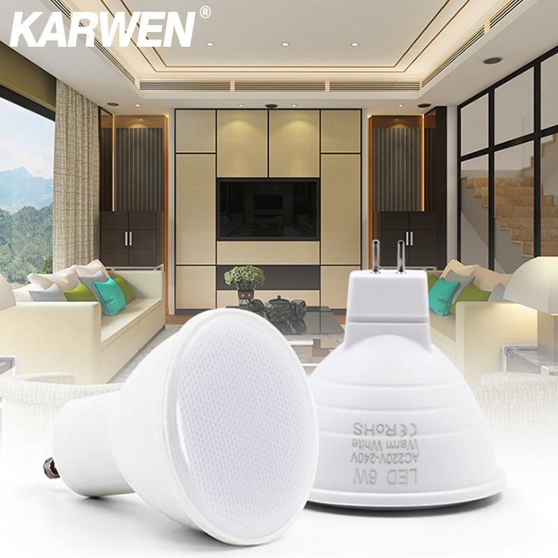 KARWEN Bombillas LED Lamp GU10 MR16 220V LED Spotlight 3W 6W LED Downlight Ceiling Light Lampara LED Bulb