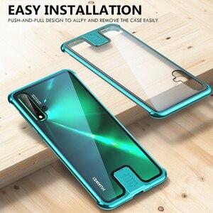 Image 4 - OMEVE Huawei Nova için 5T durumda Nova 5 kapak sınırsız metal tampon temizle temperli cam kabuk için Huawei Nova5T 5 telefon kılıfları