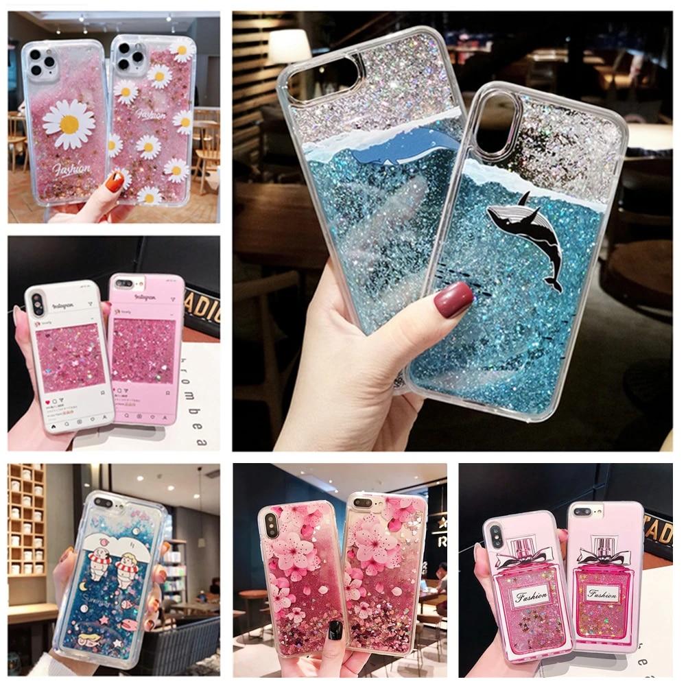 Cute Flamingo Unicorn Liquid Case For coque Samsung Galaxy J7 2016 Case For Samsung J7 2016 J710 cover Glitter Quicksand Case