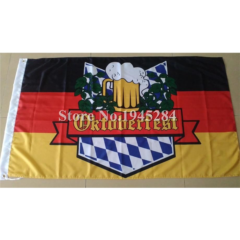 """/""""OKTOBERFEST/"""" 3x5 ft flag polyester"""
