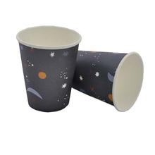 8pcs Paper Cup Star Trek Space Series Environmental Tableware Party Desktop Dress Up Supplies, Disposable Supplies
