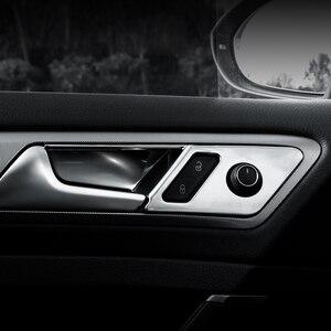 Image 2 - 4pcs ABS 자동차 인테리어 도어 핸들 커버 도어 보 울 스티커 장식 폭스 바겐 폭스 바겐 골프 7 7.5 MK7 MK7.5 LHD 2013   2019