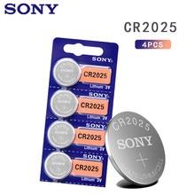 4 pçs/lote sony CR2025 3 100% V Bateria de Lítio Para Assista Calculadora Controle Remoto Original CR2025 coin botão celular baterias