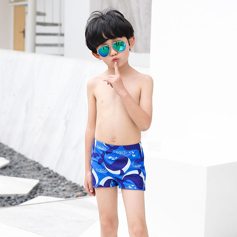 New Style South Korea CHILDREN'S Swimming Trunks Male Baby Shorts Cartoon Small Yellow Duck Dolphins Children Students Swimming