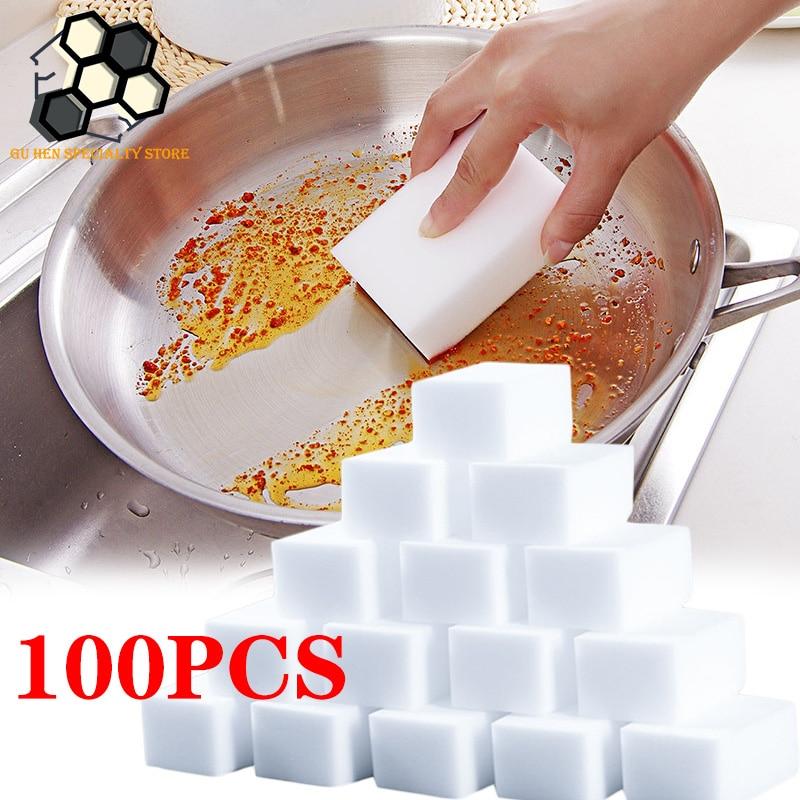 100*60*20 мм меламиновая губка волшебная салфетка губка меламиновая губка для очистки губки Кухня Чистящая губка Ванная комната для очистки