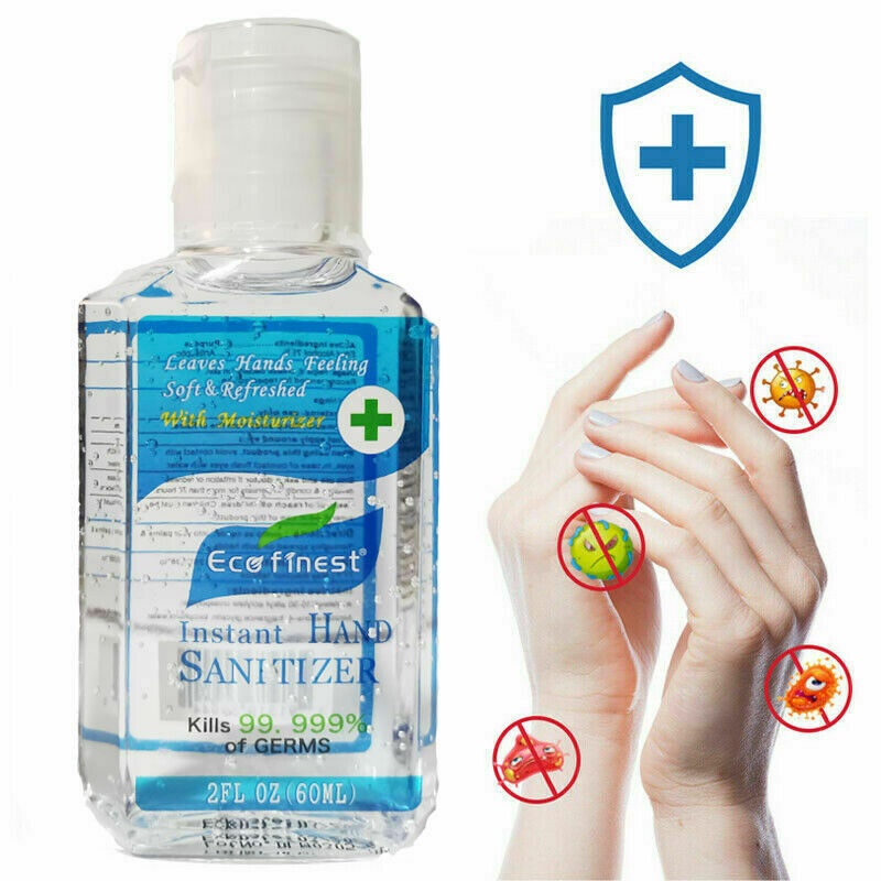 60ml Portable Hand Wash Liquid Gel 99.9% Kills Bacteria Instant Skin Cleansing