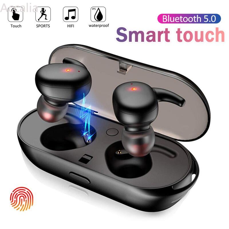 TWS беспроводные наушники Blutooth 5,0, Спортивная Hi-Fi мини-гарнитура, 3D стерео, бас, музыка, Внутриканальные наушники-вкладыши для сотового телефо...