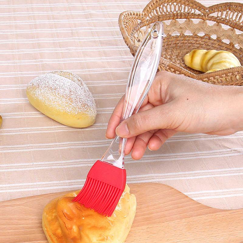 1Pcs נוזל שמן עוגת מברשת סיליקון אפיית שמן מברשת מאפה קרם עבור לחם מנגל תשמיש צולה מברשות גריל מברשת מטבח כלי