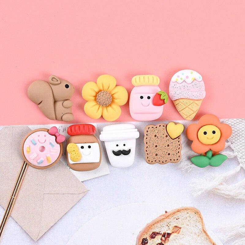 Donut fridge magnet, strawberry milk fridge magnet, squirrel fridge magnet, cute flower blackboard sticker