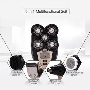 Image 2 - متعددة الوظائف 4D ماكينة حلاقة كهربائية الشعر المتقلب قص الشعر الحلاقة الأنف الأذن الشعر المتقلب أداة تهذيب اللحية الرجال أدوات للعناية الشخصية 0