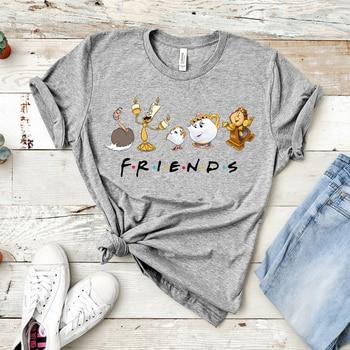 2020 Beauty and The Beast Friends Shirt  Plus Size  Women Shirts  Kawaii Tv Show Friends Inspired Tee Funny Cartoon Graphic Tee 1