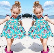 Baby Girl Ruffle Floral Dress Sundress Briefs Outfits Clothes Set