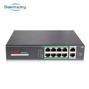 Коммутатор Doornanny PoE 8 портов Gigabit IEEE 802,3 af/at Ethernet сетевой концентратор RJ45 коммутатор LAN оборудование для ip-камеры видео монитор