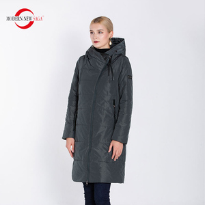 Image 3 - מודרני חדש סאגת 2020 סתיו נשים מעיל חם ארוך מעיל סלעית חורף Parka נשים גבירותיי חורף מעיל מוצק רוכסן אישה מעיל