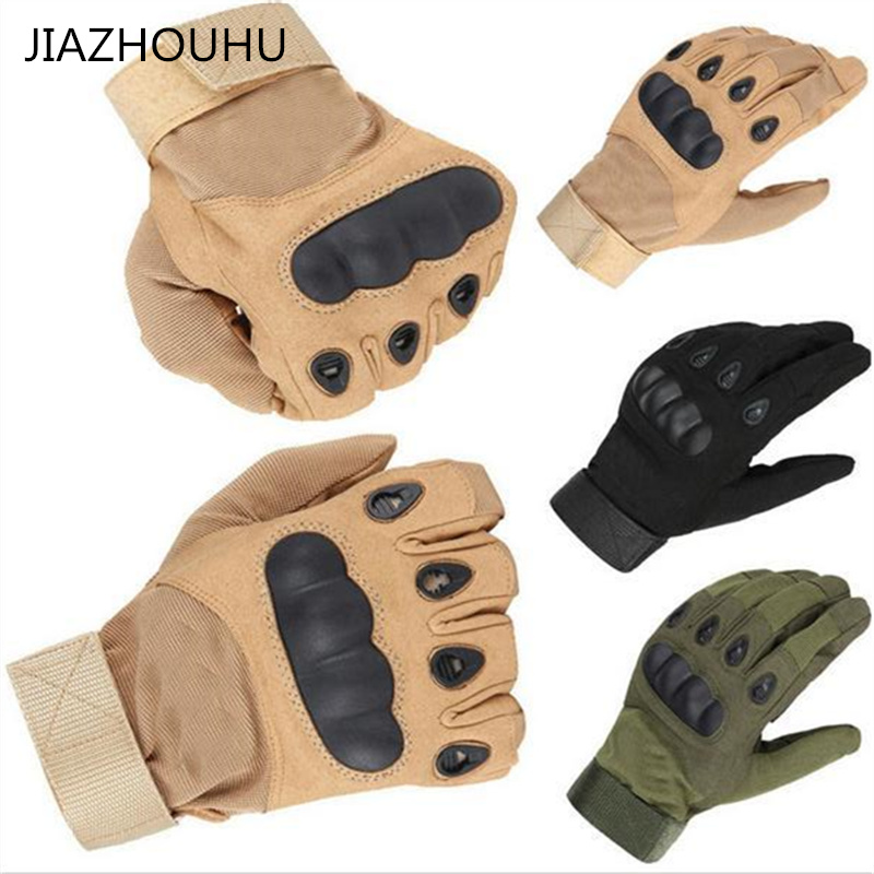 2020 New Outdoor Sports Full Finger Tactical Gloves Men Riding Cycling Army Military Men's Gloves Armor Protection Shell Gloves