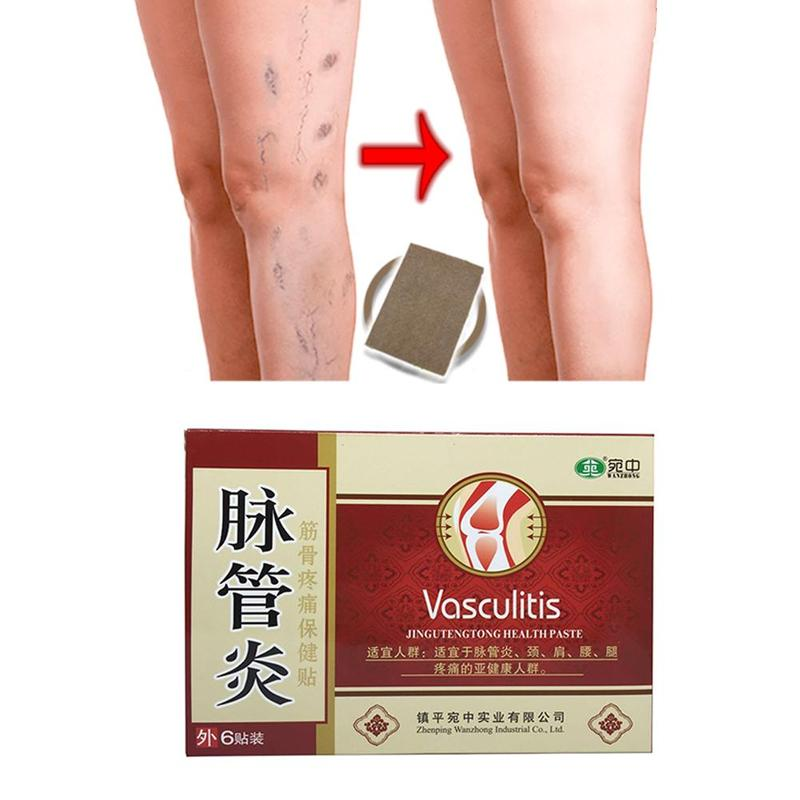6Pcs/Bag Varicose Veins Herbal Healing Patches Chinese Medical Herbal Varicose Veins Effective Cure Patch Health Care Tools