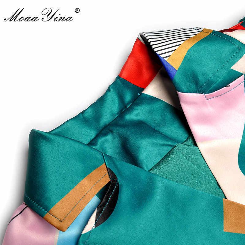 MoaaYina/модное дизайнерское платье для подиума; сезон весна-осень; женское платье с длинными рукавами и рисунком; с поясом; двубортное элегантное платье