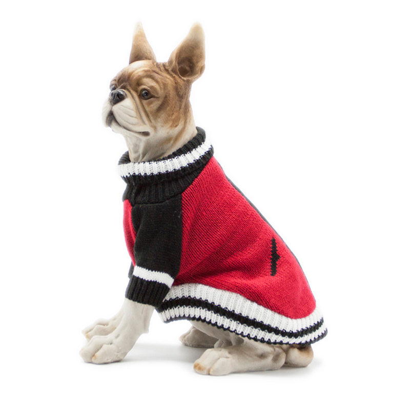 Warm Dog Sweaters Classic Color Matching Sweater Turtle Neck Pet Jumper Coat  For Small Medium Dogs Pug Chihuahua French Bulldog