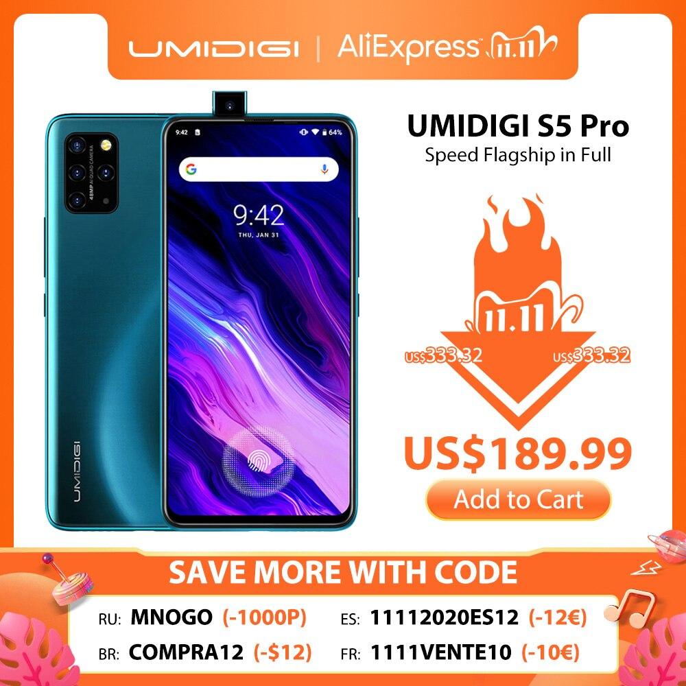 In Stock UMIDIGI S5 Pro Helio G90T Gaming Processor 6GB 256GB Smartphone FHD+ AMOLED In screen Fingerprint Pop up Selfie Camera|Cellphones| - AliExpress