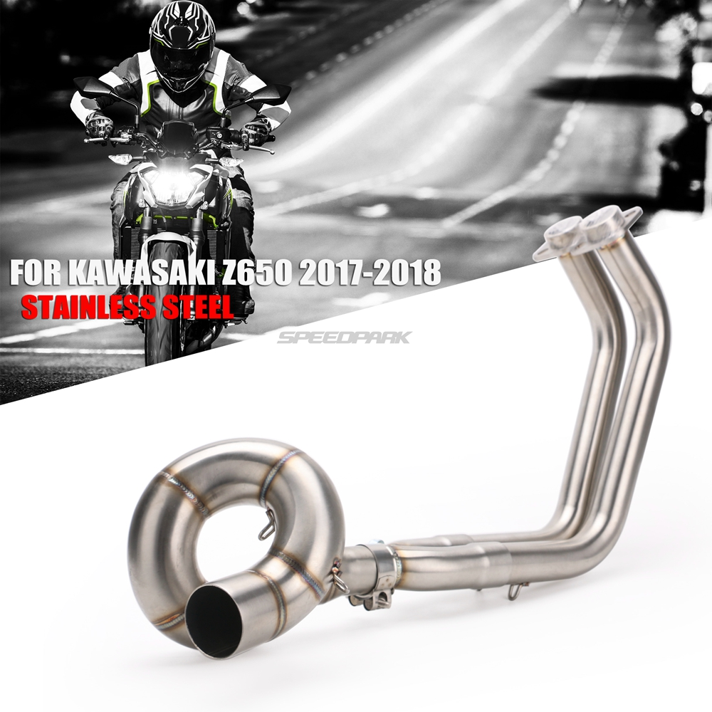 Motorcycle Exhaust Full System Pipe Muffler Header Pipe Stainless Steel 51mm For Kawasaki NINJA650 Z650 NINJA 650 2017 2018(China)