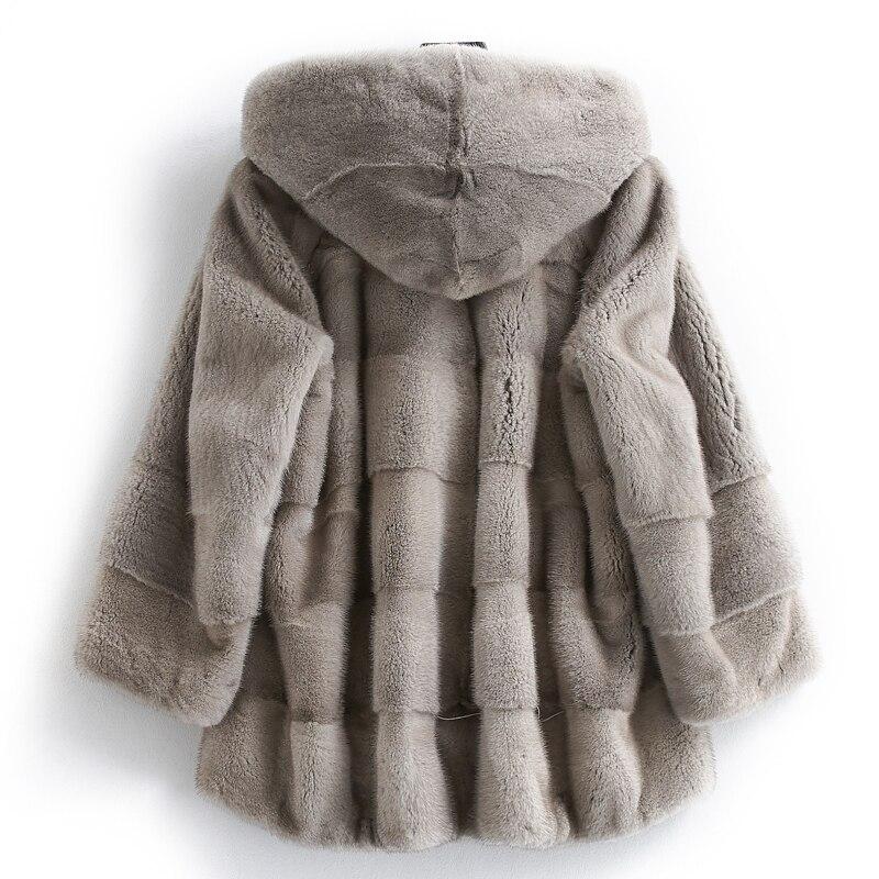 Fur Mink Real Coat Winter Jacket Women Clothes 2020 Natural Luxury Full Pelt Fur Jackets Hooded Warm Overcoat MY3776 S