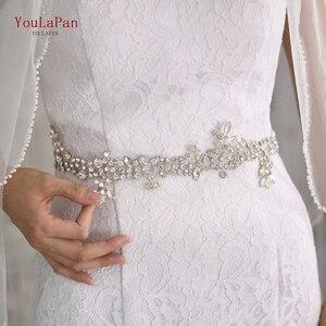 Image 1 - Topqueen sh259 prata diamante cinto de noiva cinto de strass roxo cinto de faixa de casamento floral nupcial cinto de faixa cinto de noiva branco
