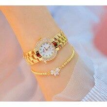 Small Dial Wristwatch Diamond Quartz Watch Crystal