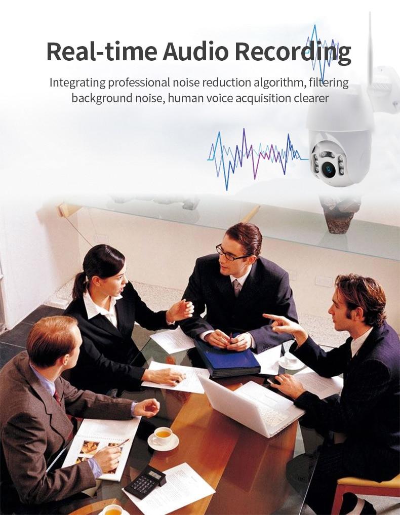 Hdc1dd2d1ff6d43abae21c866c678dc34i Q1 Outdoor PTZ Wireless IP Camera Move Detection Infrared Night Vision Waterproof Surveillance RJ45/Wifi Dome CCTV Camera
