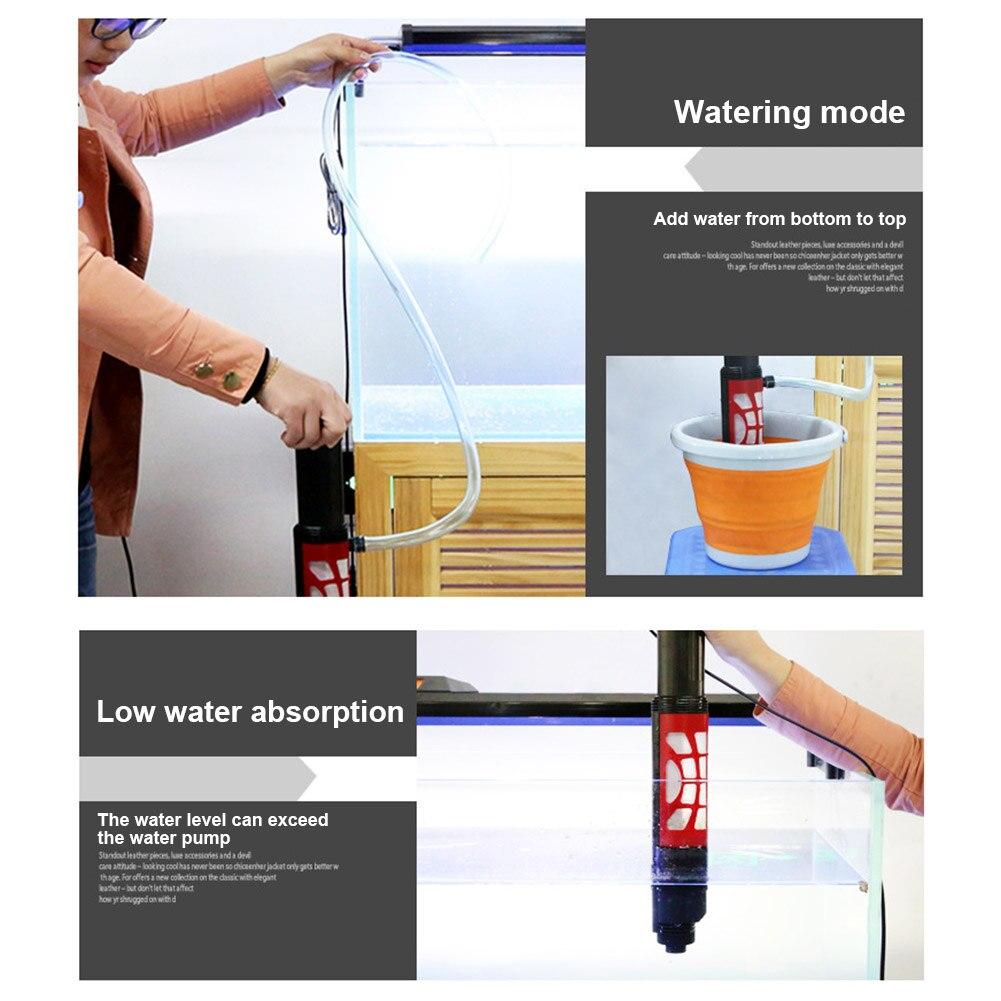 Changeur d'eau automatique tenu dans la main Rechargeable d'extracteur de boue de décapant de gravier d'aquarium pour l'aquarium