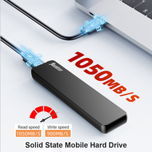 Portable SSD 2TB 1TB 512GB 256GB USB 3.1 Gen 2 Type C NVMe External Solid State Drive for Phone Tablet PC Smart TV