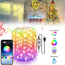USB Led Bluetooth Fairy Lights Copper Wire LED String Light for Home Wedding New Year