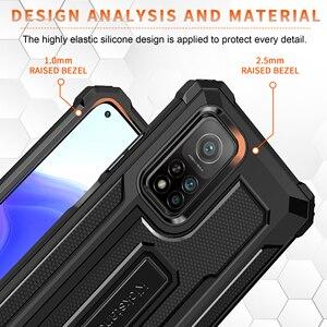 Image 3 - Kickstand Hard Armor Phone Cover for Xiaomi POCO F3 5G F 3 3F Mi 11 PocoF3 10T Lite Redmi K40 Pro Note 9S 9 8 Pro 9A Note 9T