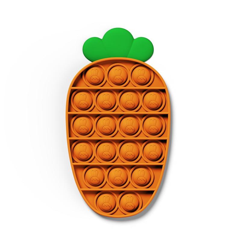 Пуш-ап вытолкнуть его пузырь морковь игрушки Fidget аутизма особых потребностей сенсорными Антистресс игрушка для снятия напряжения Popit игры ...