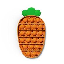 Impulso pop it bolha cenoura fidget brinquedos autismo necessidades especiais sensoriais anti-stress alívio brinquedo popit jogo presente para crianças