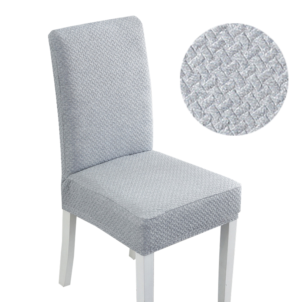 S/M/L Jacquard comedor fundas de poliéster para sillas elástico comedor silla de cocina para sillas tramo ruso almacén