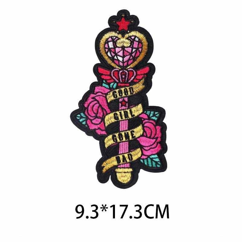 1PCS New Magic Wand personalidade Do Punk Bordado Patches de Ferro Em Requintado Apliques Casacos Chapéus Emblemas Sacos Diy Acessórios