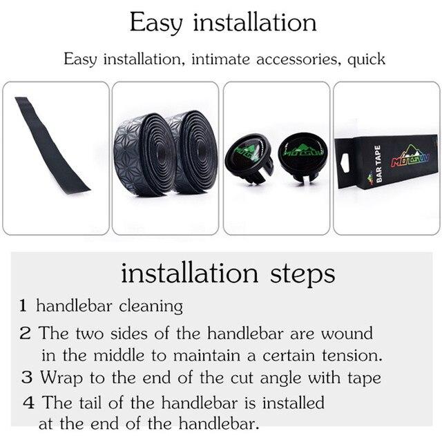 MOTSUV Road Bicycle Handlebar Tape Belt Cycling Handle Bar Grip Wrap Anti-slip Anti-sweat Strap 2 Bar Bike Accessories 4