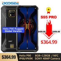 DOOGEE S95 Pro IP68/IP69K Modular Rugged Phone 6.3'' Helio P90 Octa Core 8GB 128GB 5150mAh Sony 48MP Triple Cam Android 9.0 NFC