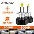 Светодиодсветодиодный лампы для автомобильных фар H1 H7 LED 360 H4 20000LM HB3 HB4 9012 HIR2 светодиодный H11 H8 9006 9005, 6000K 8000K 12V HLXG